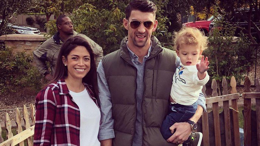 Nicole und Michael Phelps mit Söhnchen Boomer