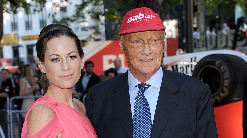 Niki Lauda (rechts) und seine Frau Birgit