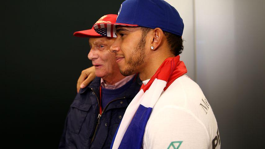 Niki Lauda und Lewis Hamilton 2015