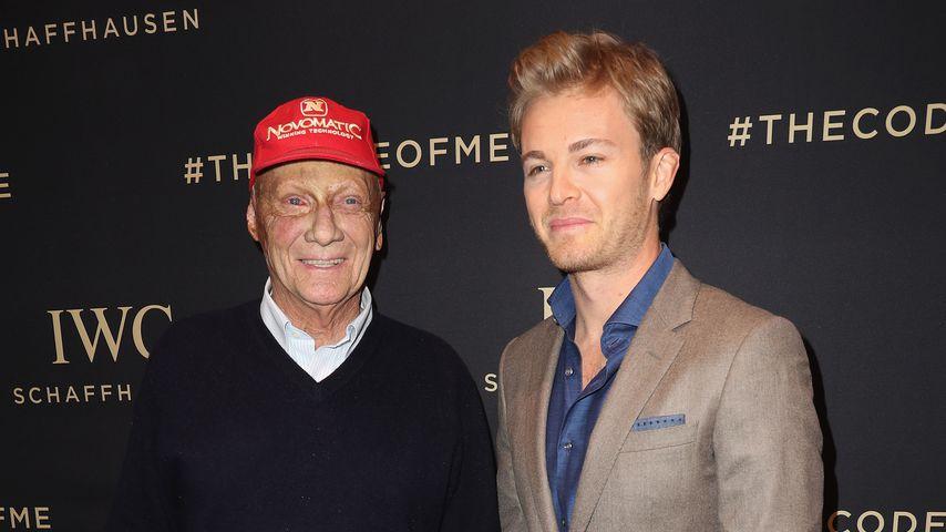 Niki Lauda und Nico Rosberg im Januar 2017 in Genf