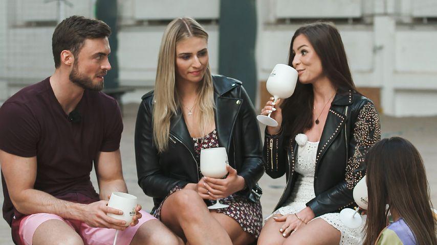 """Niko Griesert mit Laura Bühre und Nadine Ackermann bei """"Der Bachelor"""""""