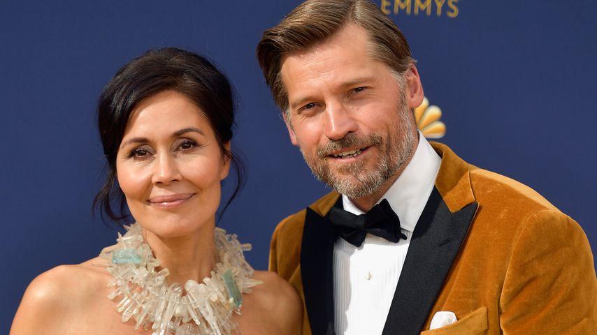 Nikolaj Coster-Waldau und seine Frau Nukaaka bei den Emmy Awards 2018