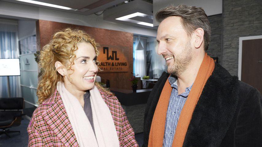 """Nina (Maria Wedig) und Robert (Nils Schulz) bei """"Gute Zeiten, schlechte Zeiten"""""""