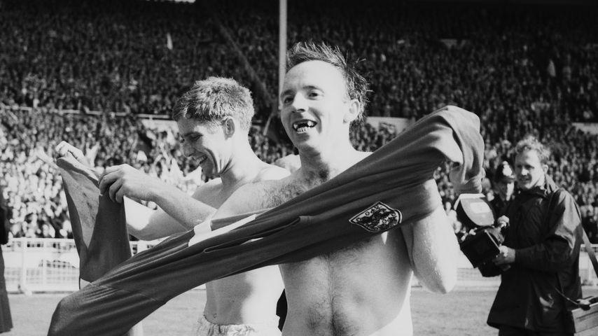 Nobby Stiles beim Weltmeisterschaftsfinale im Wembley Stadion, 1966