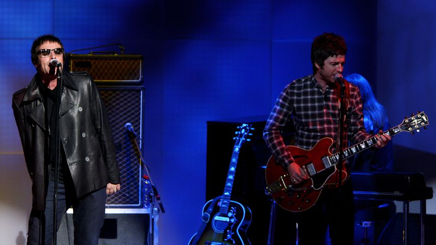 Noel und Liam Gallagher im November 2008 in Mailand