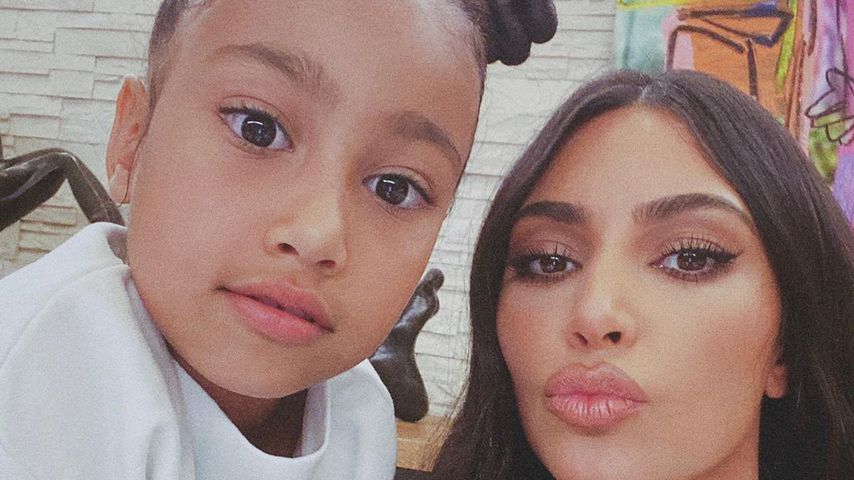 North West und Kim Kardashian