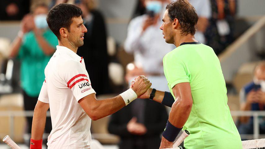 Novak Djokovic und Rafael Nadal bei den French Open 2021