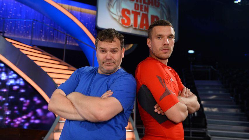 """""""Schlag den Star"""": Lukas Podolski gewinnt gegen Elton"""