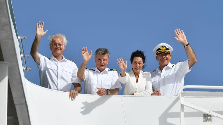 """Harald Schmidt, Nick Wilder, Barbara Wussow und Sascha Hehn auf dem ZDF-""""Traumschiff"""""""