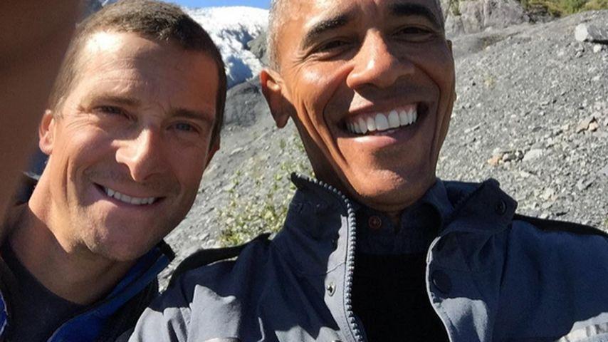 Beweis-Selfie: Obama als Überlebenskämpfer
