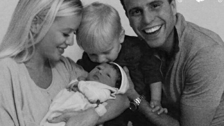 Oksana Kolenitchenko mit Daniel, Sohn Milan und Baby Arielle