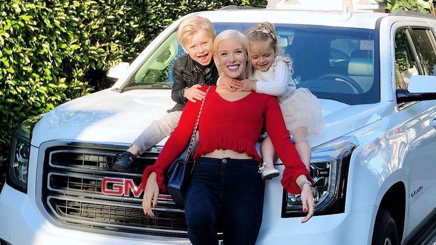 Oksana Kolenitchenko mit ihren Kindern Milan und Arielle im Juni 2019 in Los Angeles