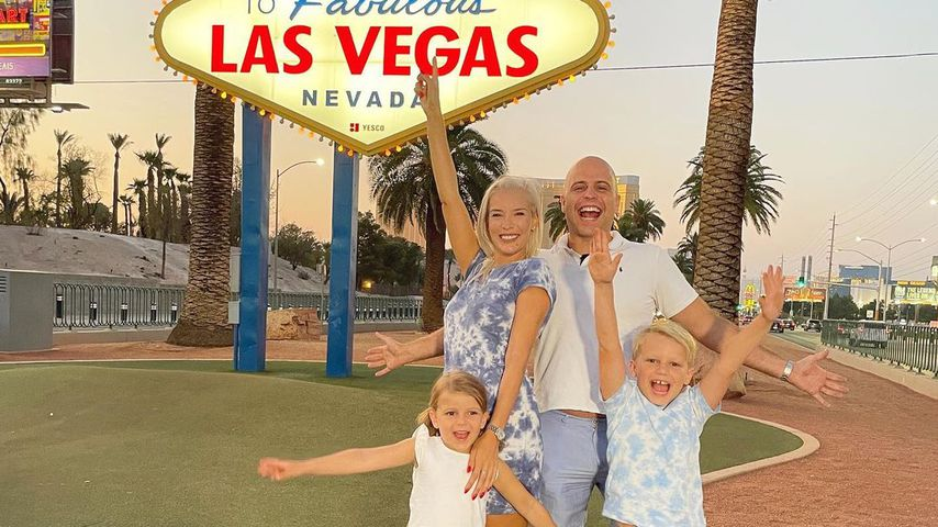 Oksana Kolenitchenko mit ihrer Familie in Las Vegas