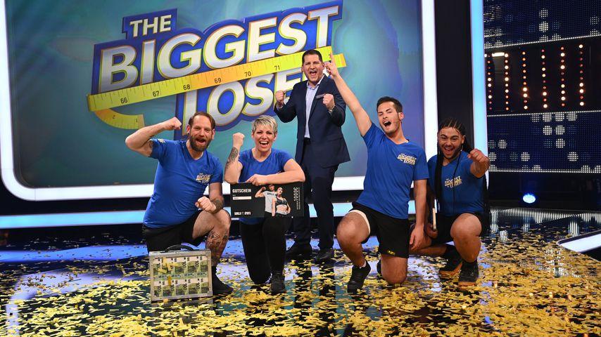 "Ole, Sonja, Ramin Abtin, Gianluca und Luca im ""The Biggest Loser""-Finale"