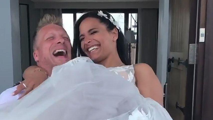 Oliver Pocher und Amira an ihrem Hochzeitstag