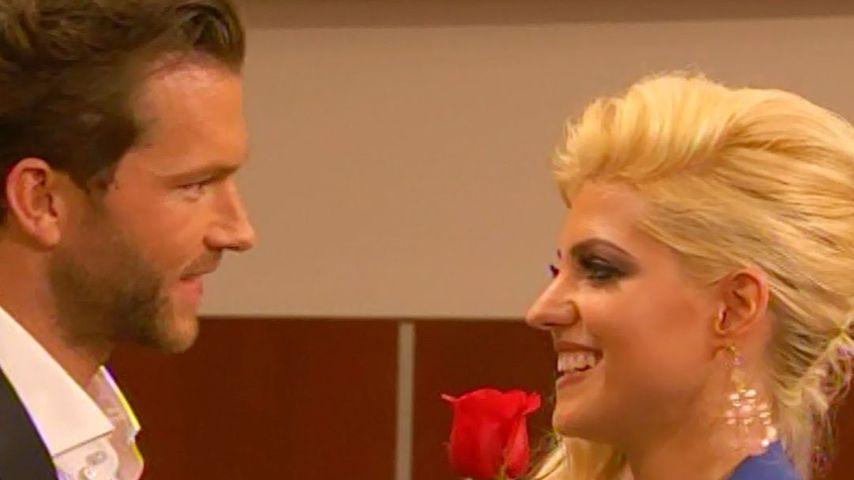 """Oliver Sanne und Sarah Harrison, damals Nowak, bei """"Der Bachelor"""""""