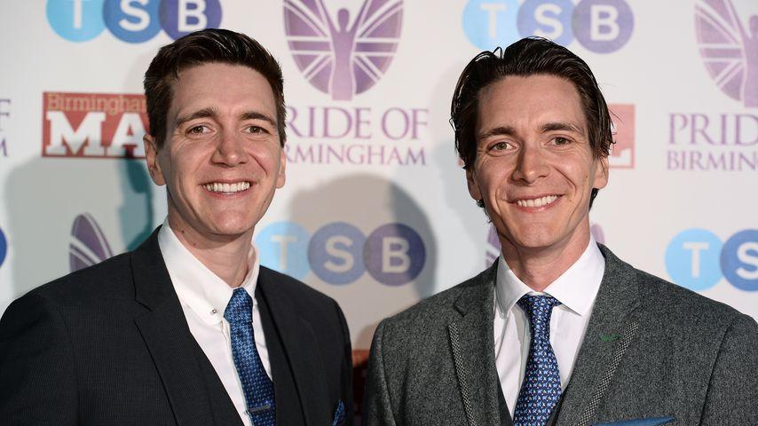 Oliver und James Phelps  im März 2019 in Birmingham