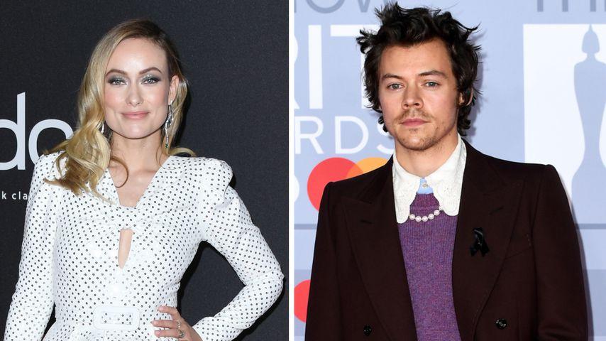 Olivia Wilde und Harry Styles posieren innig am Filmset