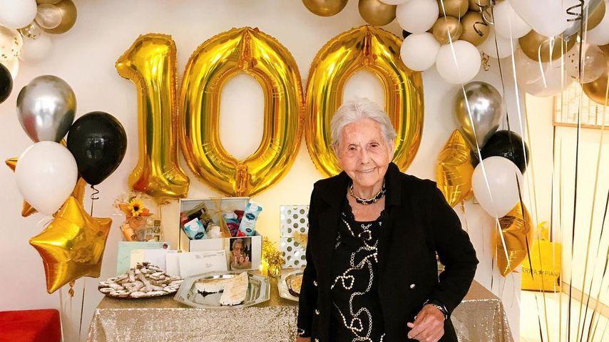 Oma Hedel an ihrem 100. Geburtstag