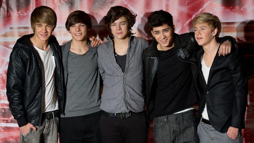 """One Direction bei einem """"X-Factor""""-Fotoshooting in London im Dezember 2010"""
