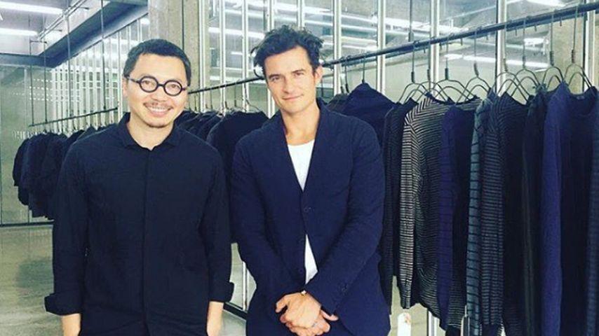 Orlando Bloom mit Designer Ziggy Chen