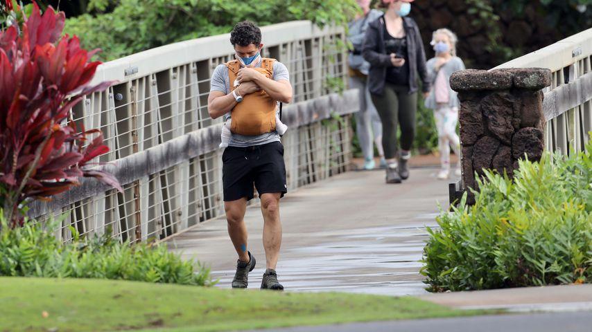 Orlando Bloom mit seinem Baby