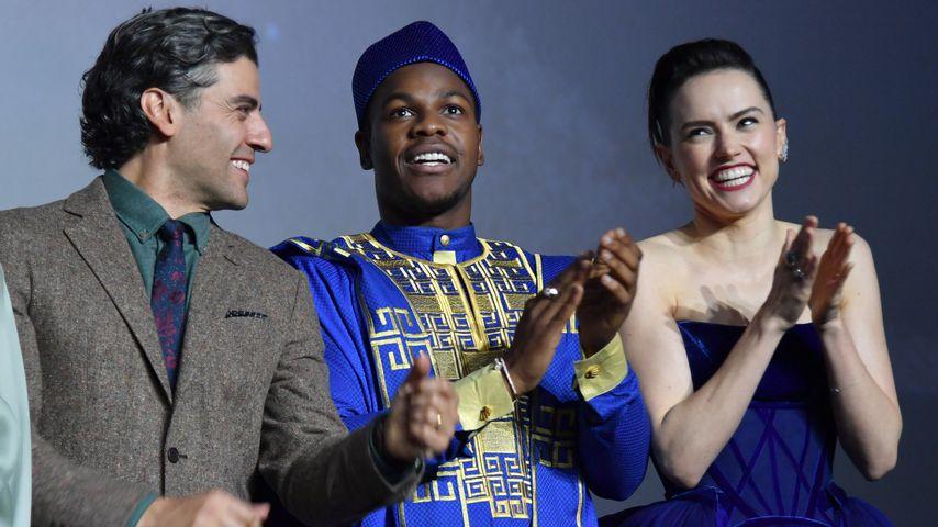 Oscar Isaac, John Boyega und Daisy Ridley