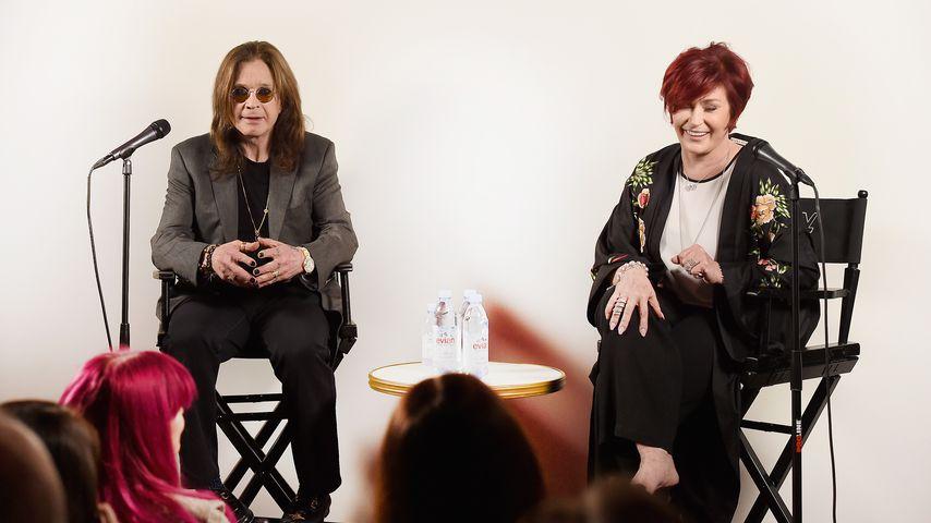 Ozzy und Sharon Osbourne bei einer Pressekonferenz in Los Angeles, 2018