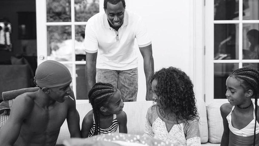Rapper P. Diddy mit vier seiner sechs Kinder