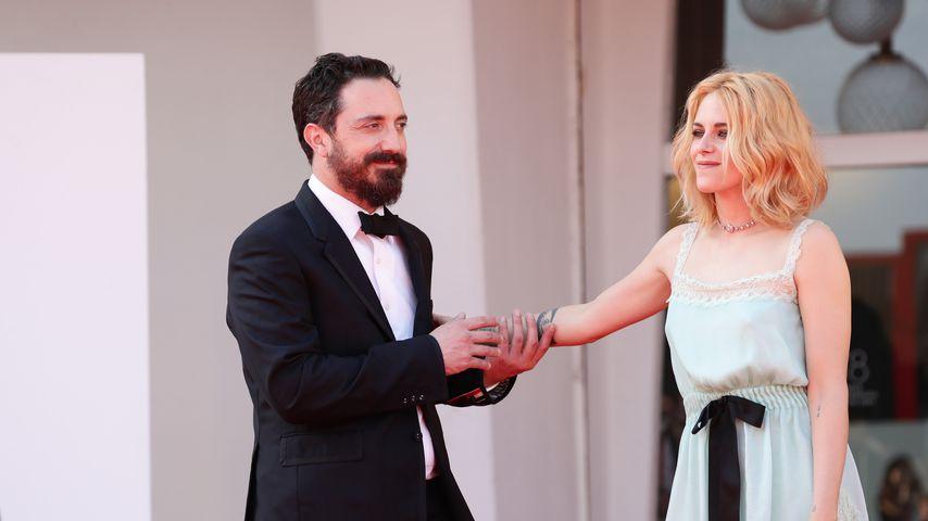 Pablo Larraín und Kristen Stewart im September 2021 in Venedig