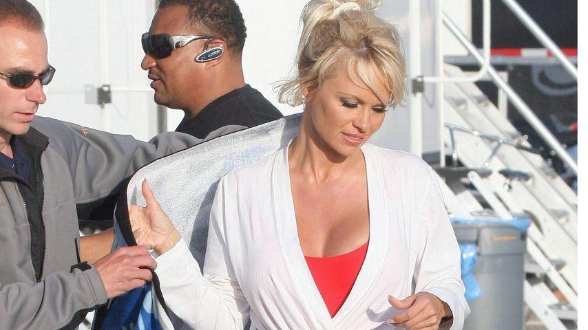 """Pamela Anderson bei einem """"Baywatch""""-Fotoshooting"""