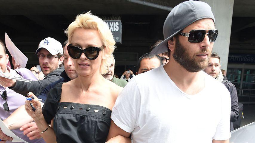Pamela Anderson und Rick Salomon 2014 in Italien