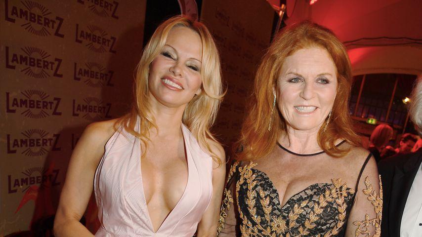 Playmate meets Royal: Hier feiert Pamela Anderson mit Fergie