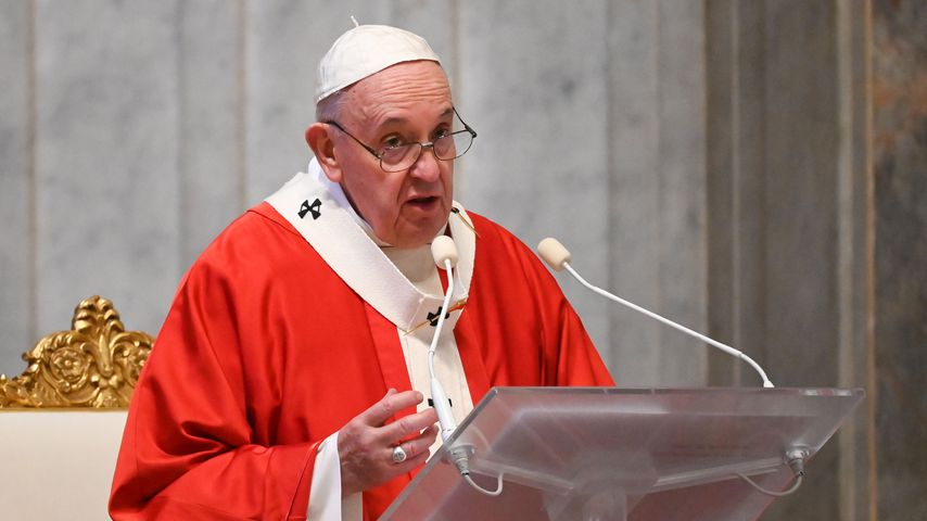 Papst Franziskus I. im Petersdom, April 2020