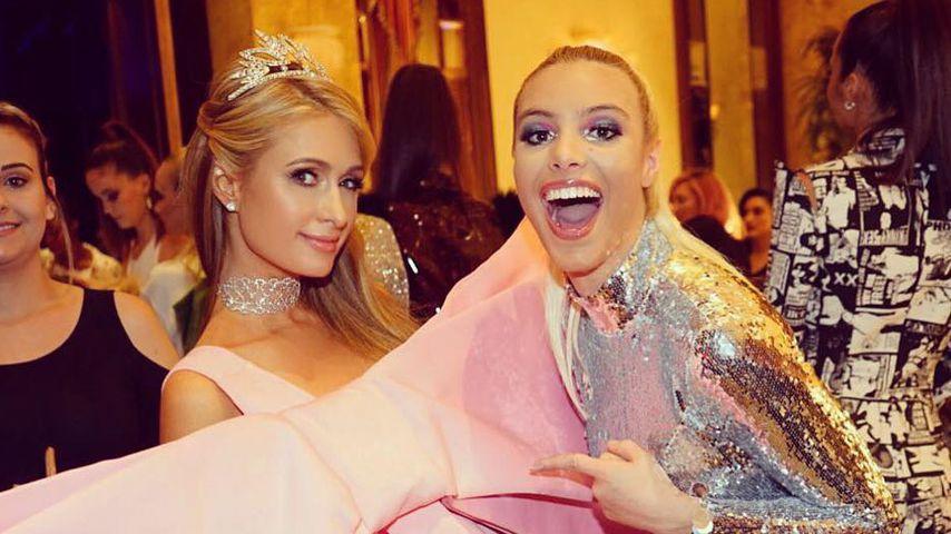 Paris Hilton mit Webvideo-Produzentin Lele Pons