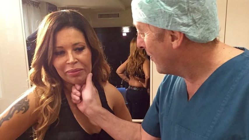 Patricia Blanco bei einem Beautyeingriff