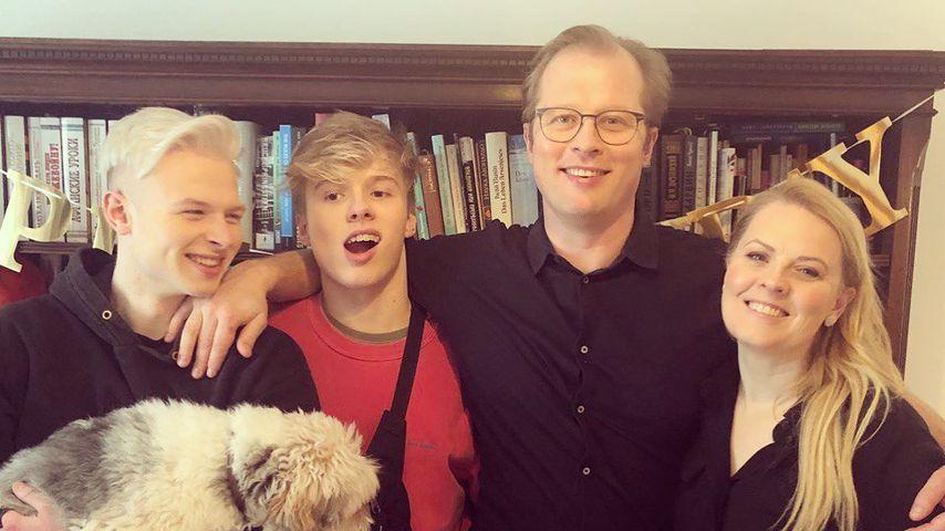 Patricia Kelly mit ihrer Familie, Februar 2020