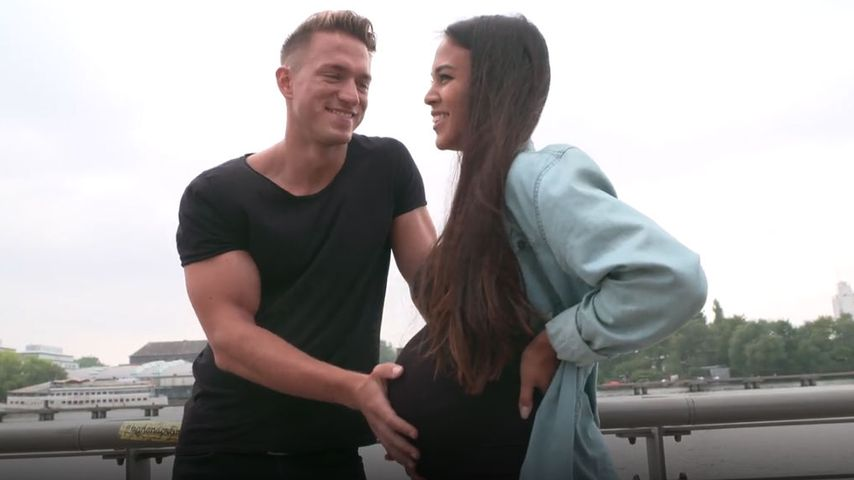 Patrick Fabian und seine Freundin Lea