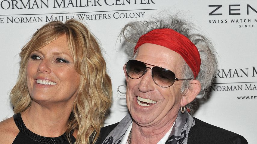 Patti Hansen und Keith Richards im November 2011
