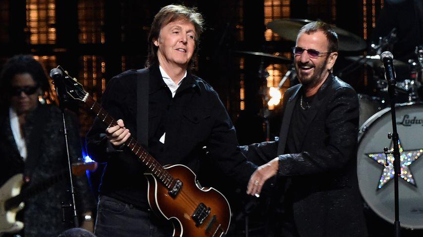 Paul McCartney und Ringo Starr, ehemalige Beatles-Bandkollegen