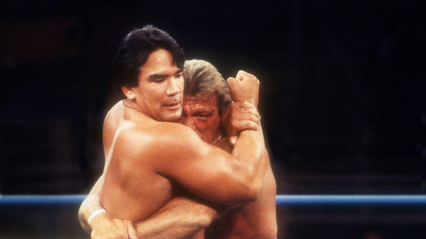 Paul Orndorff und Hulk Hogan bei einem Kampf