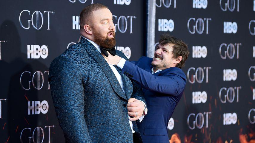 """Hafthor Julius Björnsson und Pedro Pascal bei der Premiere der finalen """"Game of Thrones""""-Staffel"""