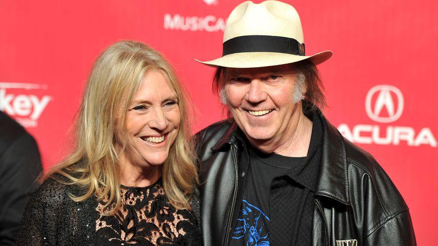Neil Young und seine frühere Ehefrau Pegi in Los Angeles 2012