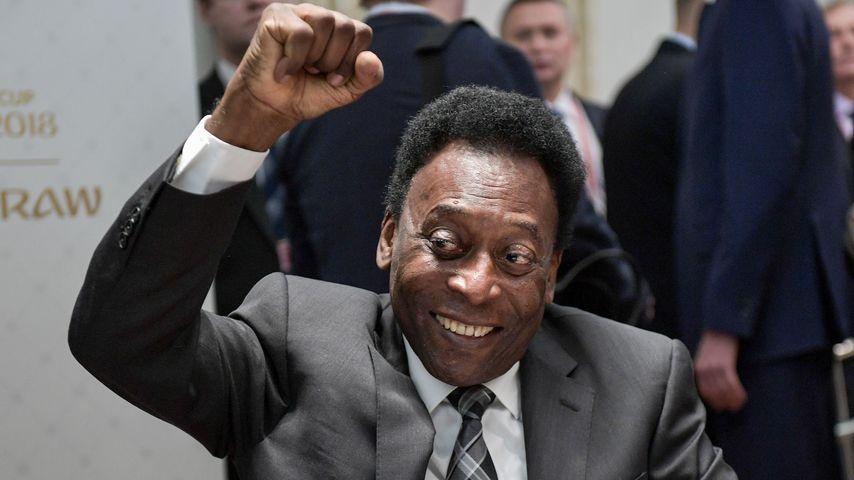 Pelé bei der Auslosung der WM-Gruppen 2018