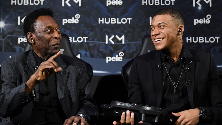 Pelé und Kylian Mbappé
