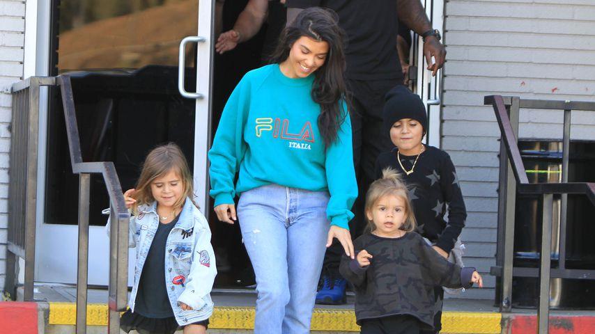 Penelope Disick, Kourtney Kardashian, Reign Disick und Mason Disick