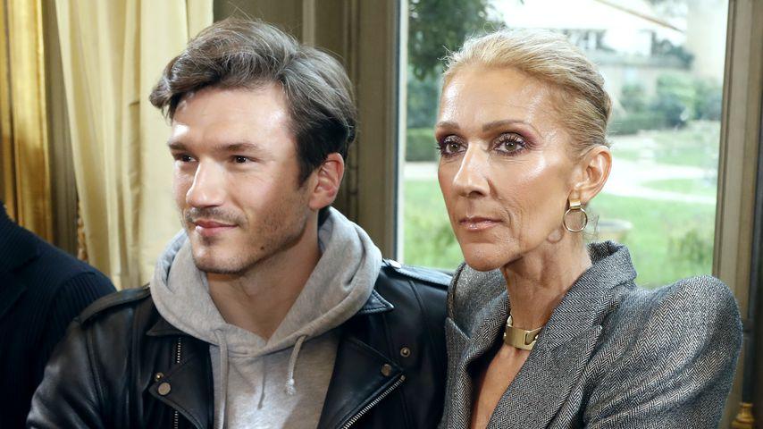 Pepe Munoz und Celine Dion bei einer Fashion Show in Paris