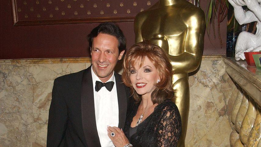 Percy Gibson und Joan Collins bei den Oscars, 2003