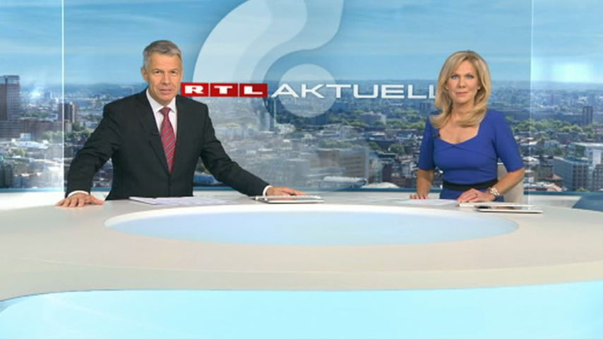 RTL-Chefredakteur Peter Kloeppel und Sportmoderatorin Ulrike von der Groeben
