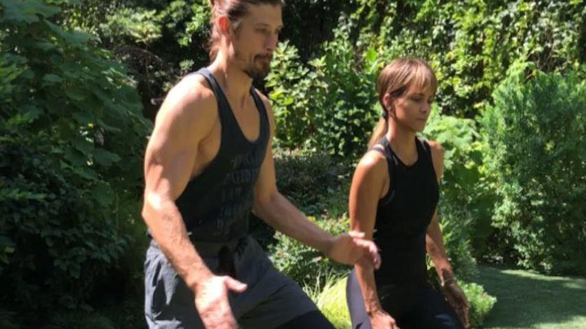 Peter Lee Thomas und Halle Berry beim Training